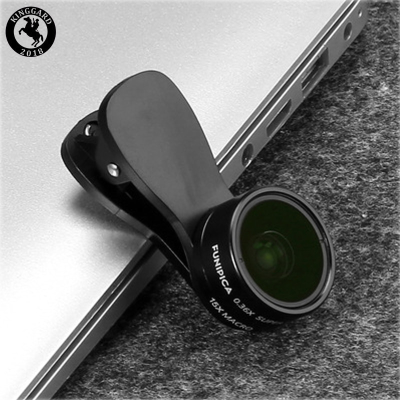 2 in 1 camera lens clip for phone