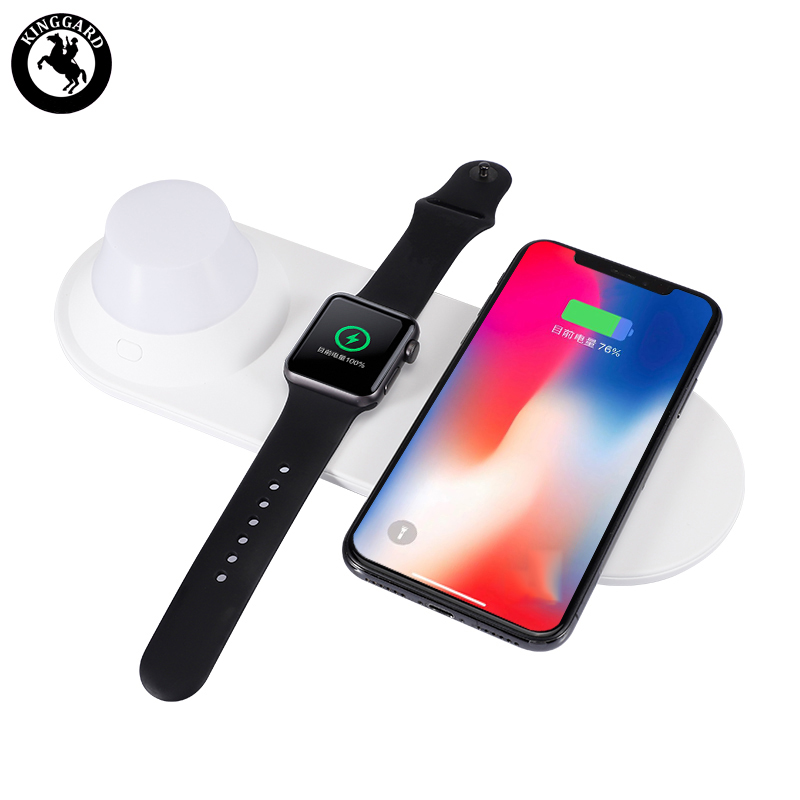 wireless charger with light